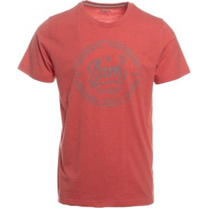 Pánské triko s krátkým rukávem SAM 73  červená