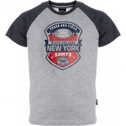 Chlapecké triko s krátkým rukávem SAM 73  šedá světlá