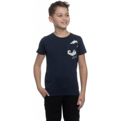 Chlapecké triko SAM 73 s krátkým rukávem tmavě modrá
