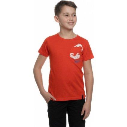 Chlapecké triko SAM 73 s krátkým rukávem oranžová
