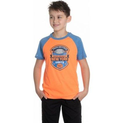 Chlapecké triko SAM 73 s krátkým rukávem oranžová neon