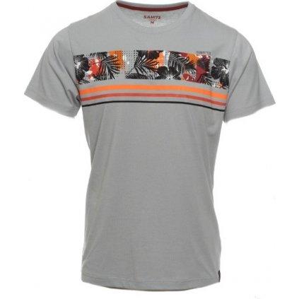 Pánské triko s krátkým rukávem SAM 73 šedá světlá
