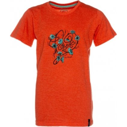 Dívčí triko s krátkým rukávem SAM 73 oranžová