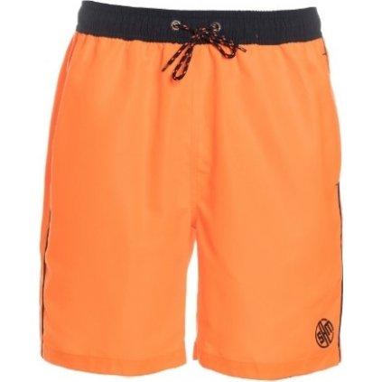 Pánské plavecké šortky SAM 73 oranžová neon