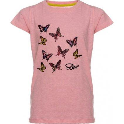 Dívčí triko s krátkým rukávem SAM 73 světle růžová