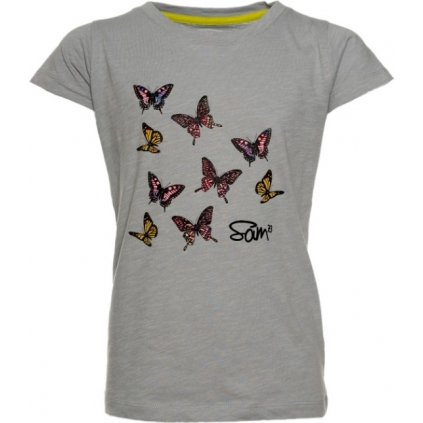 Dívčí triko s krátkým rukávem SAM 73 šedá světlá