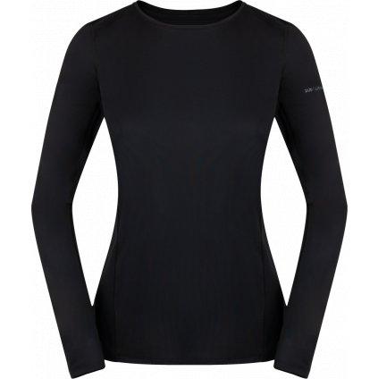 Dámské tričko ZAJO Litio W T-shirt LS černá s dlouhým rukávem