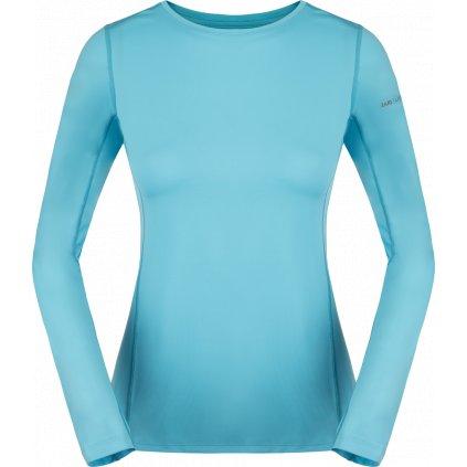 Dámské tričko ZAJO Litio W T-shirt LS modrá s dlouhým rukávem