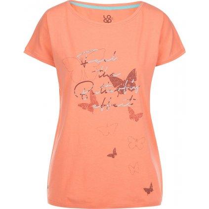 Dámské triko krátký rukáv LOAP Birdie oranžová
