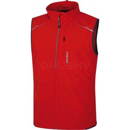 Pánská softshell vesta HUSKY Tony červená