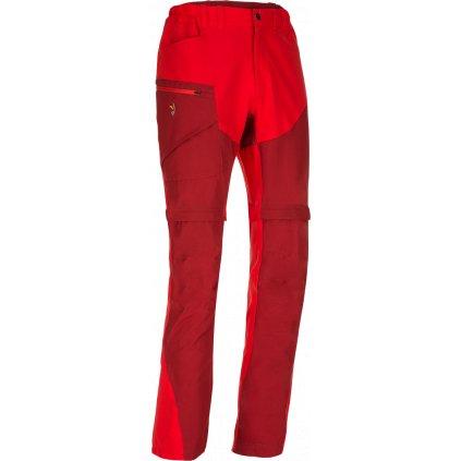 Pánské kalhoty ZAJO Magnet Neo Zip Off Pants rudá