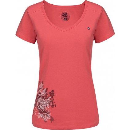 Dámské triko s krátkým rukávem LOAP  Abigale růžová