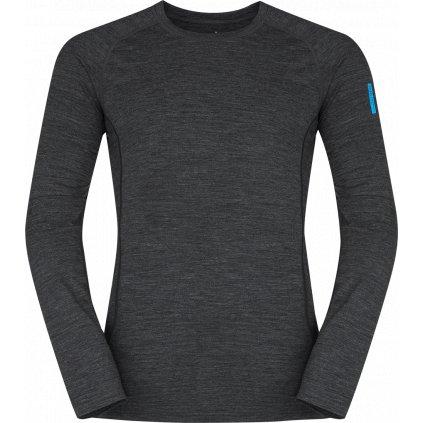 Pánské termo triko ZAJO Bjorn Merino Tshirt LS černá