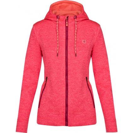 Dámský sportovní svetr/kapuce LOAP Galyn růžová