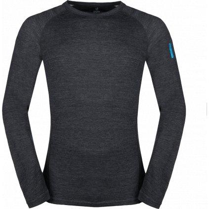 Pánské termo tričko ZAJO Bergen Merino T-shirt LS černá