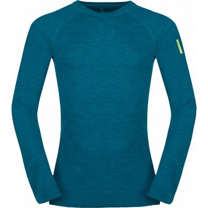 Pánské termo tričko ZAJO Bergen Merino T-shirt LS modrá
