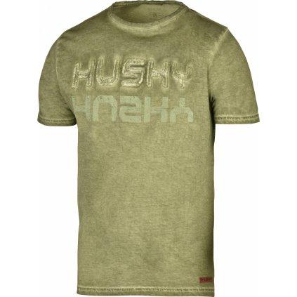 Pánské triko HUSKY   Broker M tm. olivová