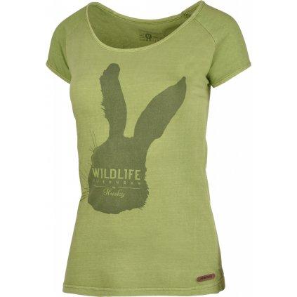 Dámské triko  HUSKY Rabbit L tm.zelená