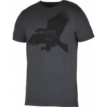 Pánské triko HUSKY  Eagle M černý mentol