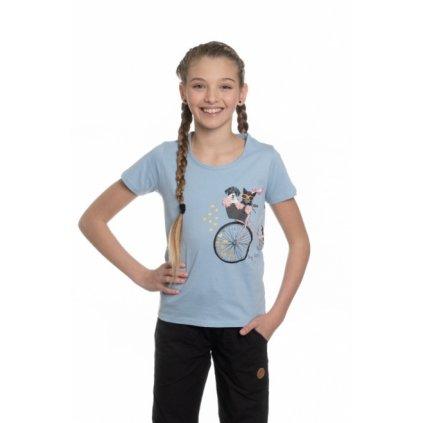 Dívčí triko s krátkým rukávem SAM 73 světle modrá