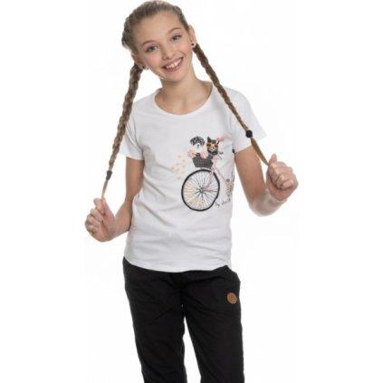 Dívčí triko s krátkým rukávem SAM 73 bílá