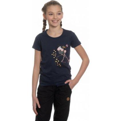 Dívčí triko s krátkým rukávem SAM 73 tmavě modrá