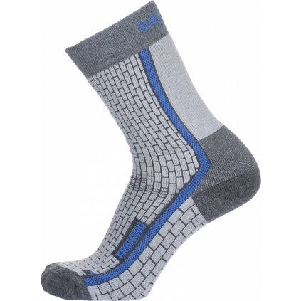 Ponožky HUSKY Treking šedá/modrá