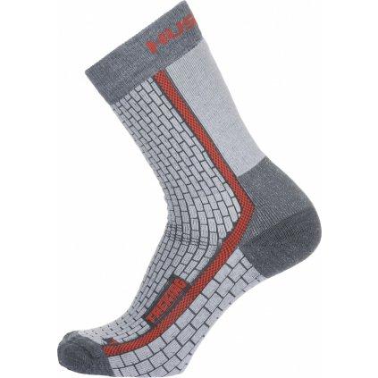 Ponožky HUSKY Treking šedá/červená