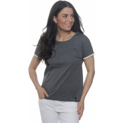 Dámské triko s krátkým rukávem SAM 73 šedá tmavá