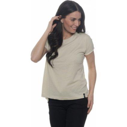 Dámské triko s krátkým rukávem SAM 73 šampáň
