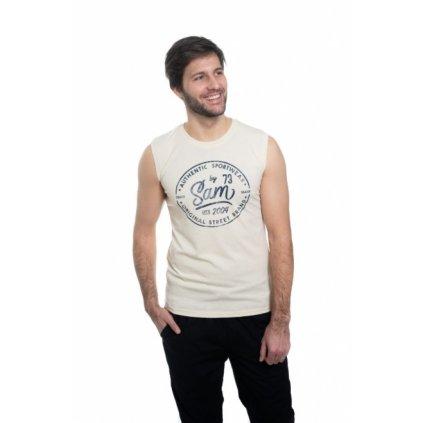 Pánské triko s krátkým rukávem SAM 73 šampáň
