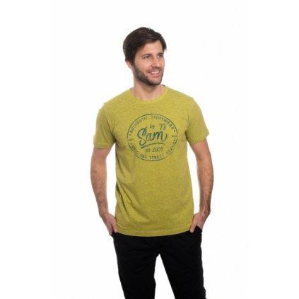 Pánské triko s krátkým rukávem SAM 73 žluto - zelená