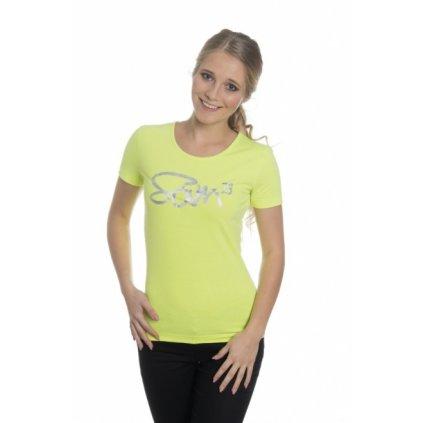 Dámské triko s krátkým rukávem SAM 73 žlutá neon