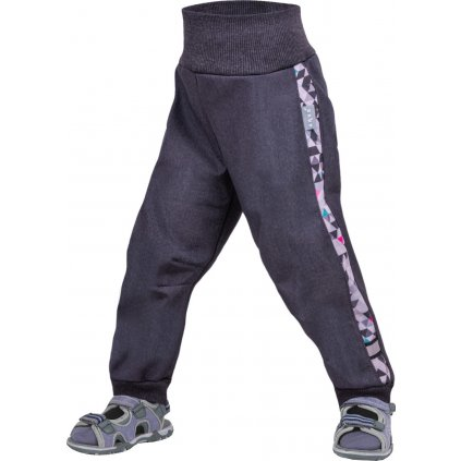 Batolecí softshellové kalhoty bez zateplení UNUO Street, žíhaná antracitová, metricon holka