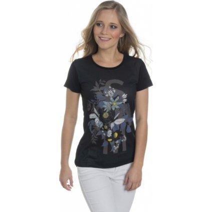 Dámské triko s krátkým rukávem SAM 73 černá