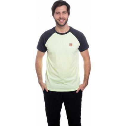 Pánské triko s krátkým rukávem SAM 73 žlutá jasná