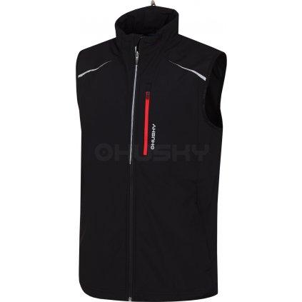 Pánská softshell vesta HUSKY Tony černá