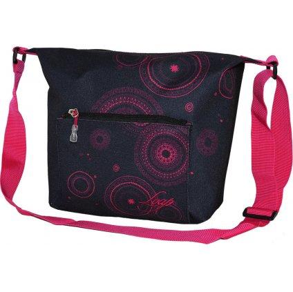 Módní kabelka LOAP Sonea černá | růžová
