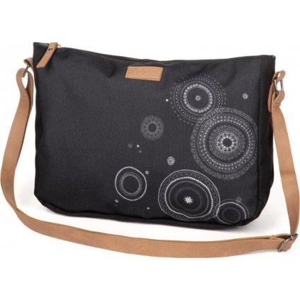 Módní kabelka LOAP Rinna černá | šedá