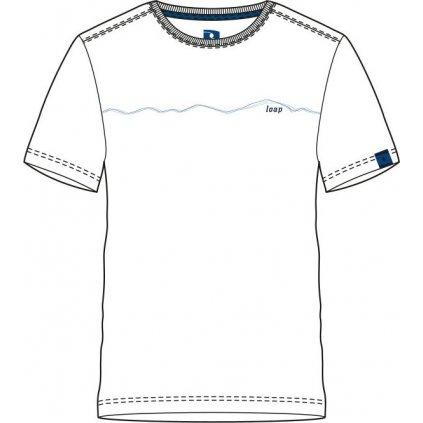 Pánské triko LOAP Alesy  bílá | modrá