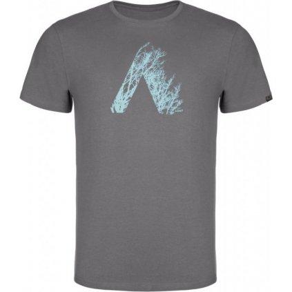Pánské triko LOAP Alamo šedá | modrá