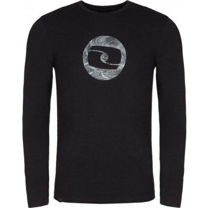 Pánské triko LOAP Albin černá   šedá