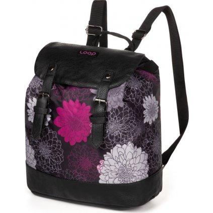 Městský batoh LOAP Asana černá | fialová