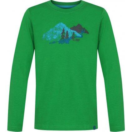 Dětské triko LOAP Arcos zelená | modrá