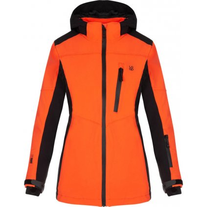 Dámská lyžařská bunda LOAP Falona oranžová | černá