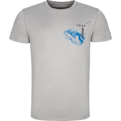 Pánské triko LOAP Malty šedá | modrá