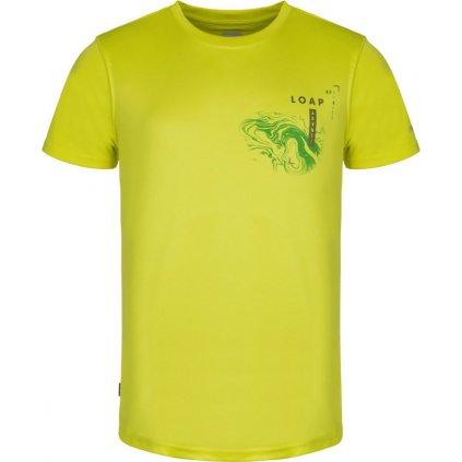 Pánské triko LOAP Malty žlutá/zelená