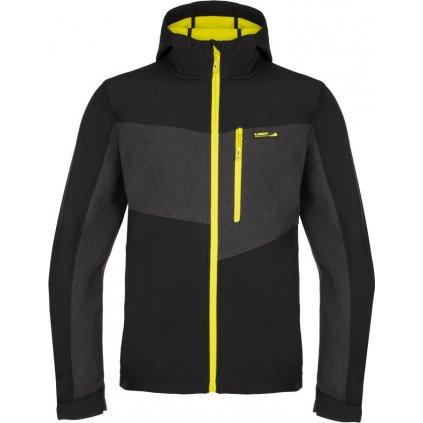 Pánská  bunda softshell LOAP Lyder černá/ žlutá
