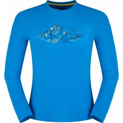 Pánské thermo triko ZAJO Bormio T-shirt LS modrá 2