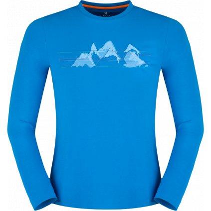 Pánské thermo triko ZAJO Bormio T-shirt LS modrá 3